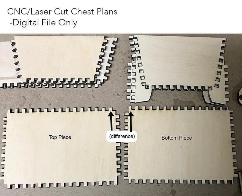 Lasercut/CNC Chest Plans  Digital Download Only image 0
