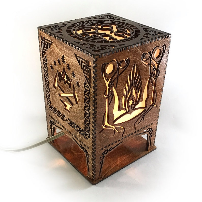 Lord of the Rings Middle Earth Lasercut Lamp image 0