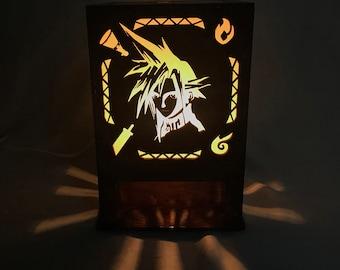 Final Fantasy 7 Lasercut Lamp