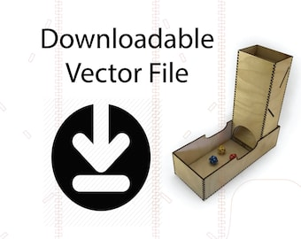 Downloadable Vector files for laser cut or cnc dice tower and tray box