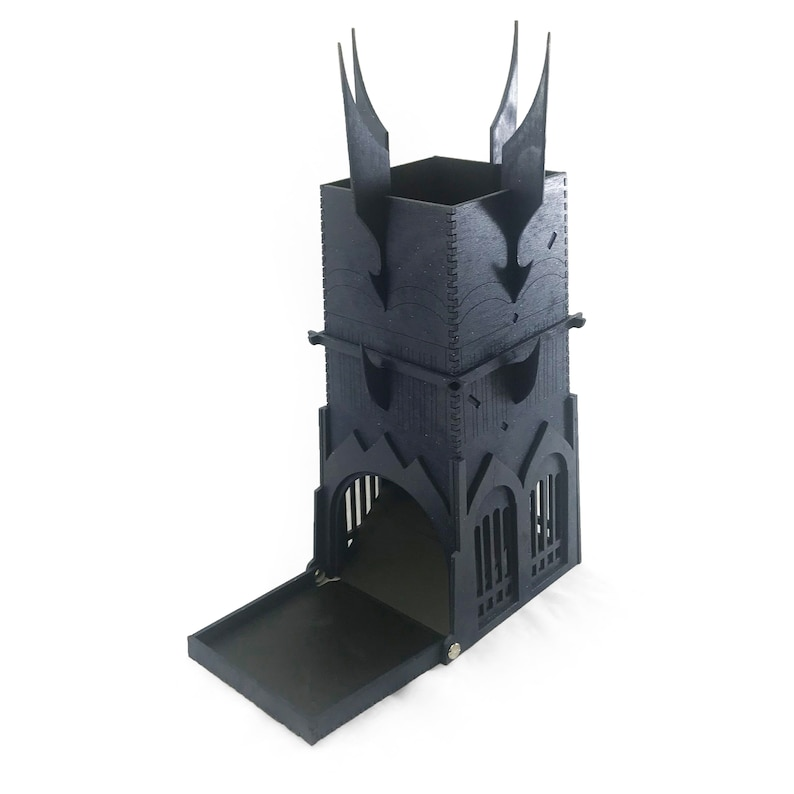 LoTR Barad-dûr Inspired Wooden Dice Tower image 0