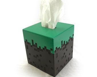 Minecraft Grass Block Tissue Box Cover