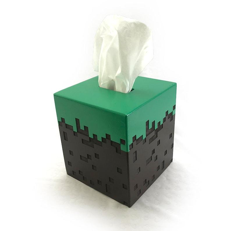 Minecraft Grass Block Tissue Box Cover image 0