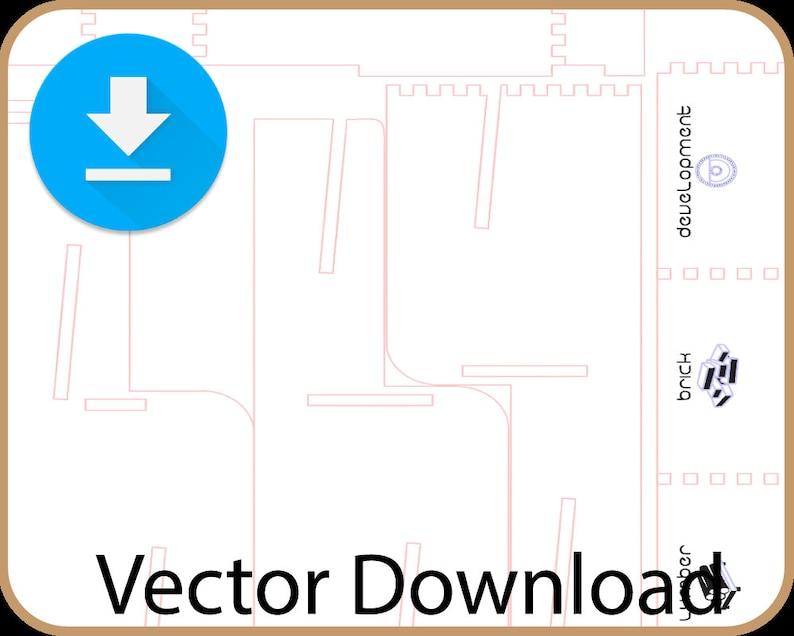 Lasercut/CNC Tabletop Card Game Card Holder  Digital Download image 0