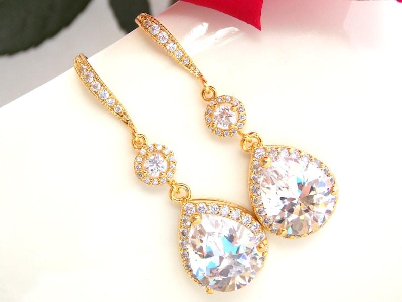 Bridesmaid Earrings Bride Earrings Dangle Long Bridesmaid Gifts Bridal Jewelry Wedding Jewelry Bridal Earrings Silver Cubic Zirconia