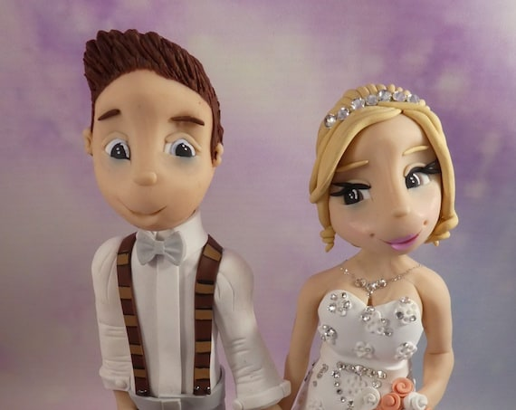 Wedding Cake Topper - Beach Theme