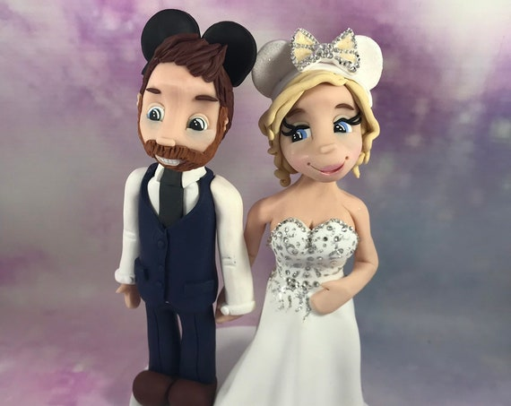 Personalised wedding Cake Topper bride and groom/same sex - Disney