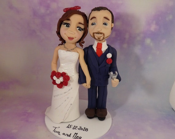 Clay wedding Cake Topper - Disney