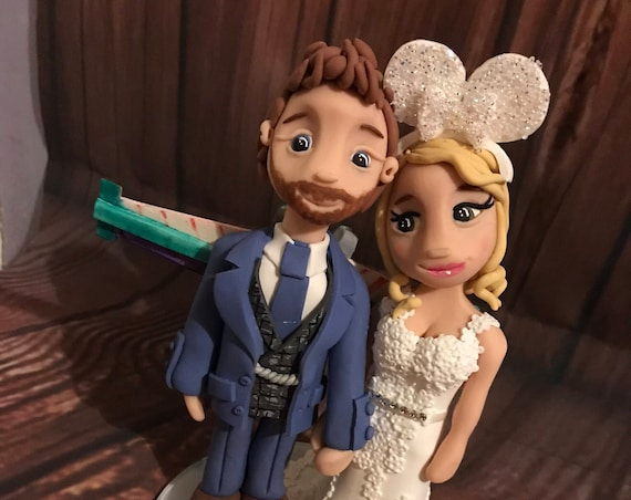 Personalised funny Wedding Cake Topper - Disney/Star wars