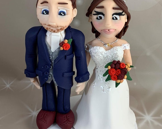 Personalised Bride and Groom - Wedding cake topper - Same sex Wedding