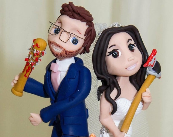wedding cake topper - Zombie Hunter