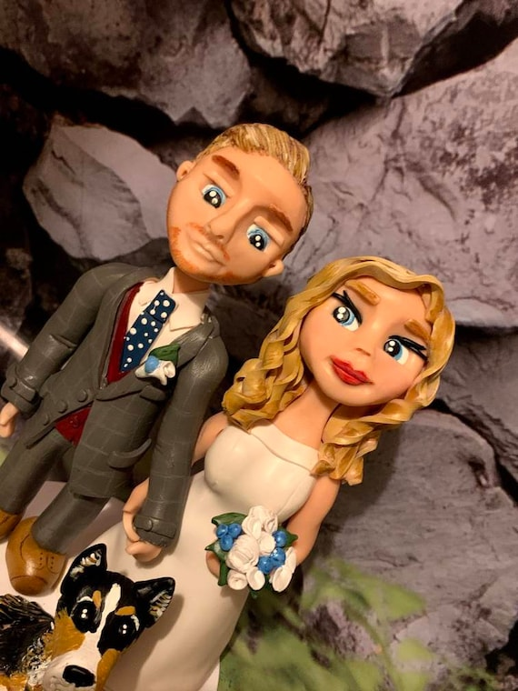Personalised Wedding Cake Topper - hand sculpted bride and groom/same sex couple.