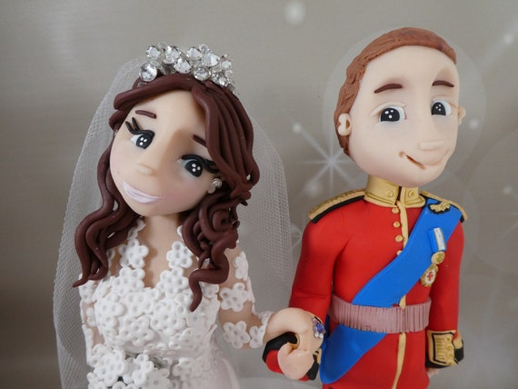 Personalised Wedding Cake Topper - bride & groom Royal Wedding, William and Catherine