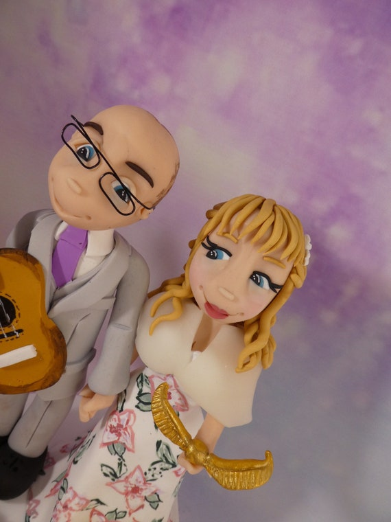 Personalised Wedding Cake Topper - Harry Potter Bride and Groom / Same sex