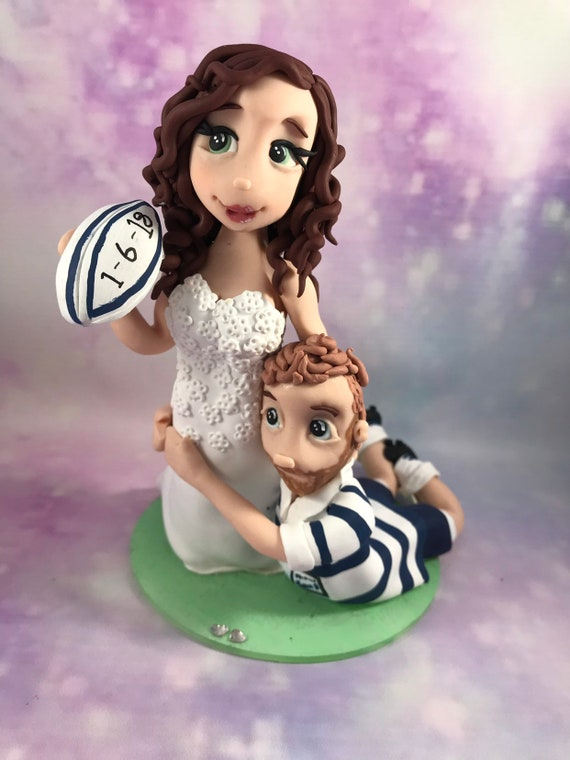 Wedding Cake Topper - Rugby Theme