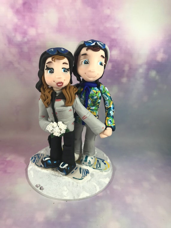 Personalised Wedding Cake Topper - Ski/Snowboard