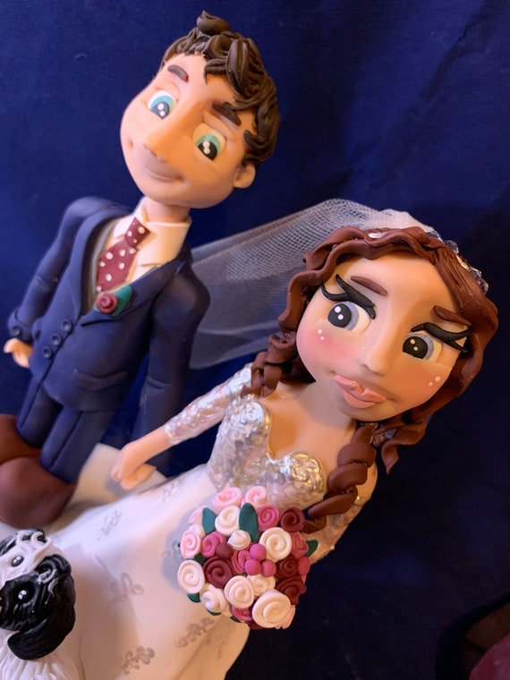 Personalised wedding cake topper - Wedding couple bride and groom/same sex couple