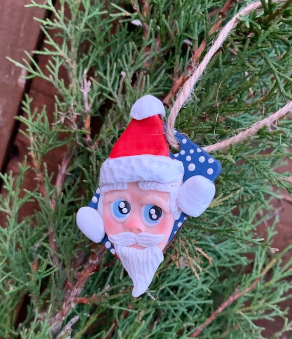 Christmas Tree decorations- polymer clay, handmade and handmade sculpted