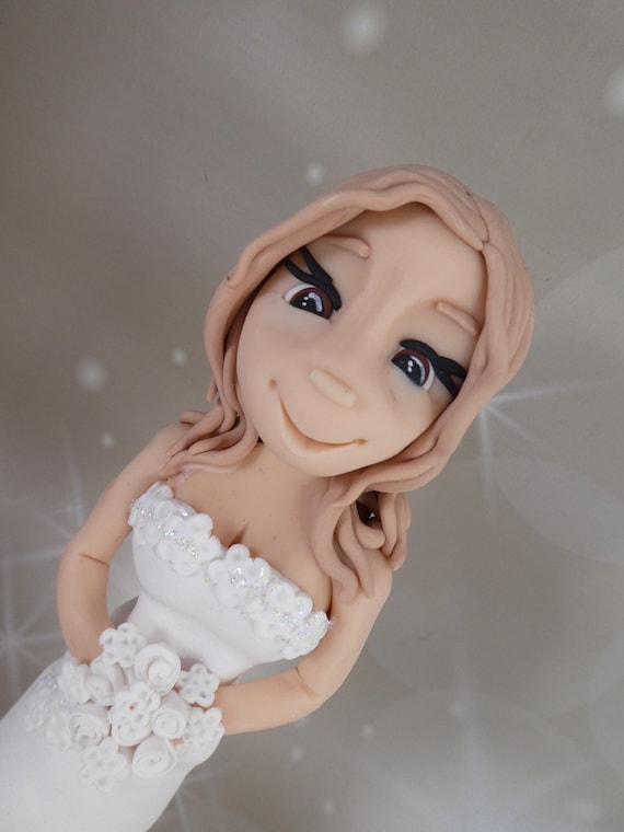 Budget Friendly/ Low cost/ Cheap Wedding Cake Topper - Bride/Lady/Girl - Finished and available for Immediate Dispatch
