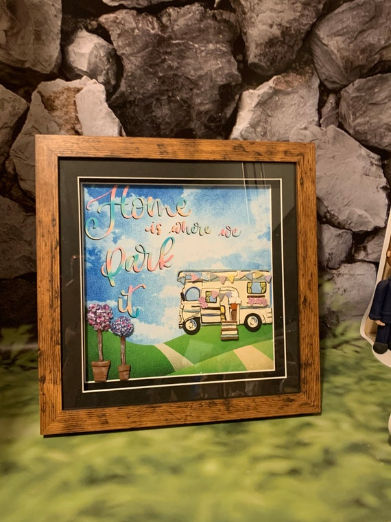 Framed Wall art - Motorhome/Rv gift.