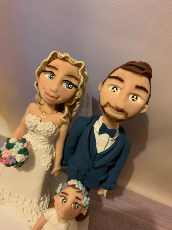Personalised Wedding Cake Topper - figurines bride and groom/same sex couple