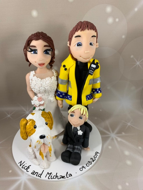 Personalised Wedding Cake Topper - Family Group