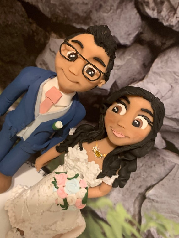 Personalised Wedding Cake Topper - bride and groom/same sex sex couple.