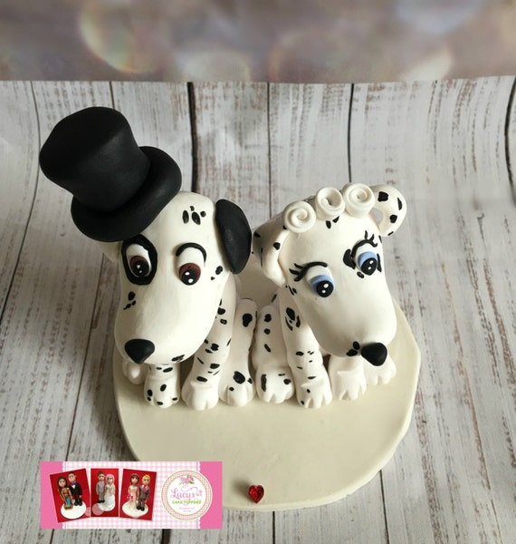 Wedding cake Topper - A lovely keepsake -Dalmation - Dog Bride and Groom - Next Day dispatch