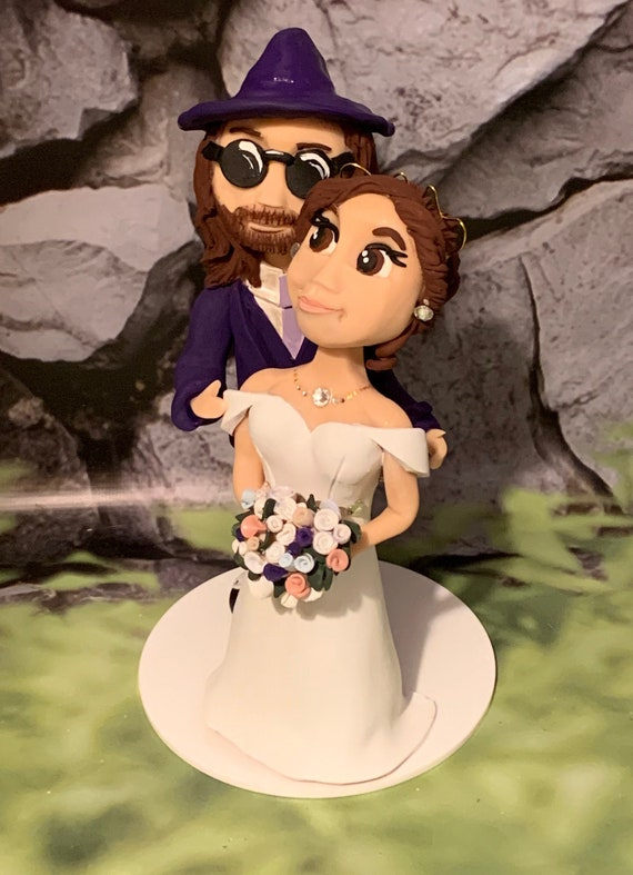 Personalised caricature- Wedding Cake Topper - bride and groom/same sex couple