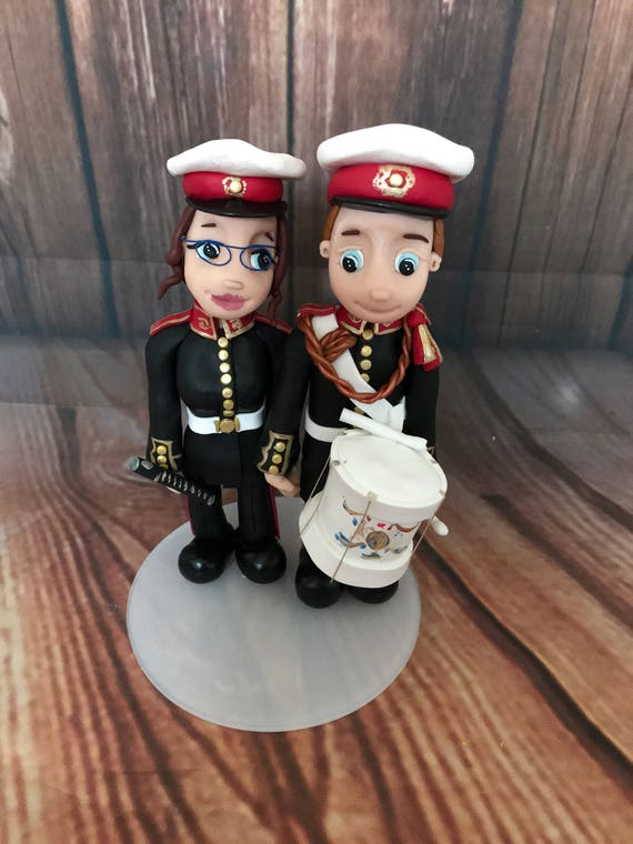 Wedding Cake Topper - musician Bride & Groom