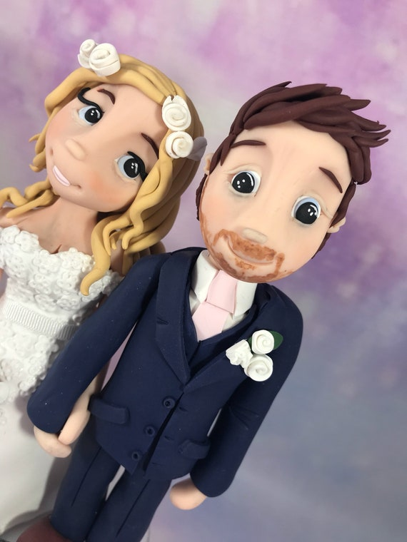 Fully personalised clay Wedding anniversary Cake Topper highly detailed and fully sculpted Keepsake -Bespoke premium service