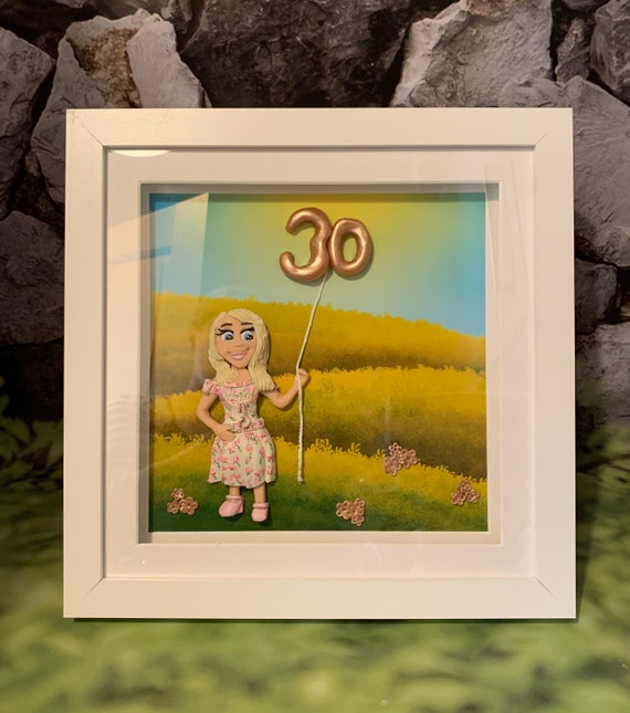 Framed Wall art Birthday gift- Summer Theme - Fully personalised