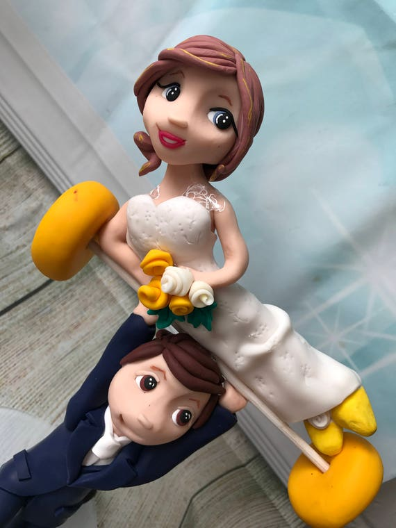 Weight lifter / Weight lifting  /crossfit / keep fit / Gym Wedding Cake Topper - Keepsake - fully personalised bride and groom