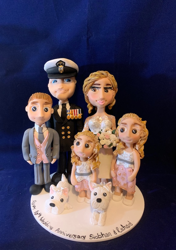 Personalised Wedding Cake Topper - military/forces/soldier/uniform