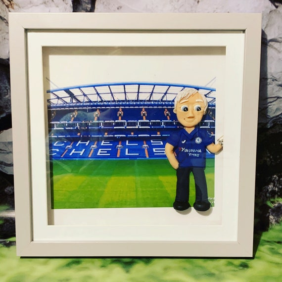 Personalised Father's Day gift - polymer clay figure in frame. 25x25cm Frame - any theme
