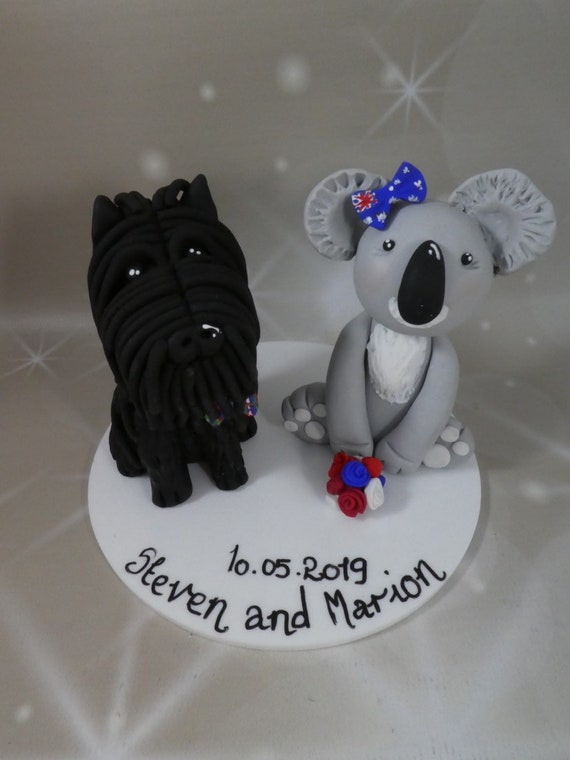 Wedding cake Topper - koala/dog any animal - polymer clay
