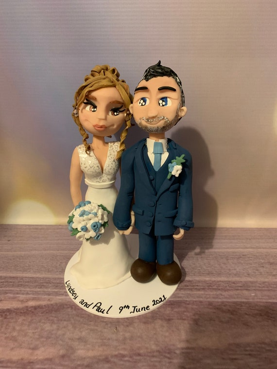 Personalised Wedding cake topper - Late bookings within two months - please read description for details - bride and groom/same sex couple