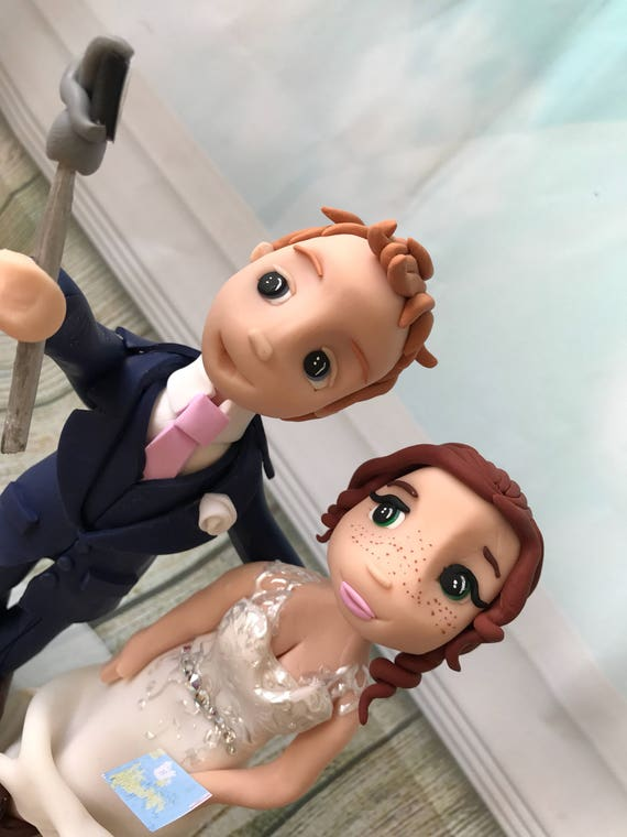 Wedding Cake Topper - selfie stick