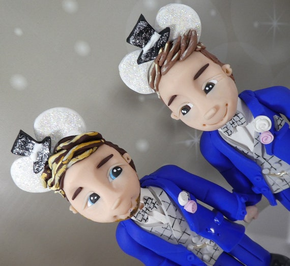 Personalised Wedding Cake Topper Disney theme - same sex couple/bride and groom
