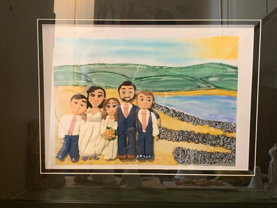 Framed family picture/family portrait - Mixed-media Wall art - Fully personalised