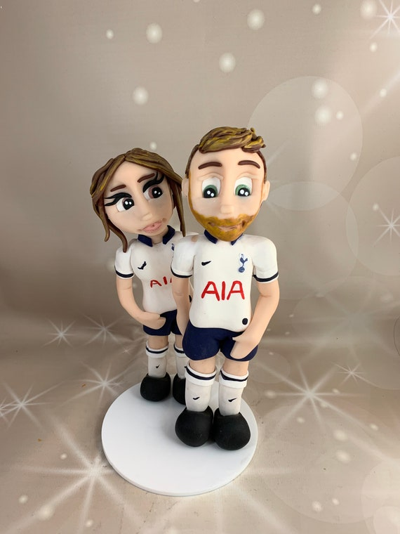 Personalised football Wedding Cake Topper - Bride and groom/same sex couple