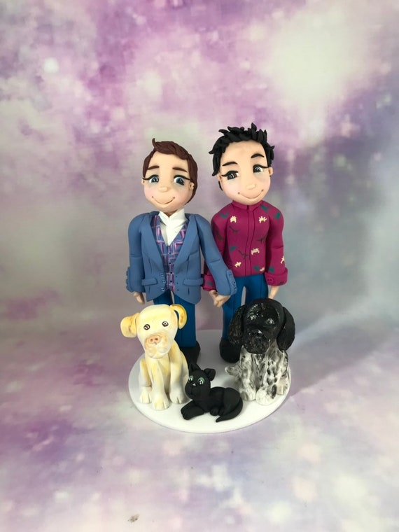 Personalised Wedding Cake Topper - same sex couple / LGBT