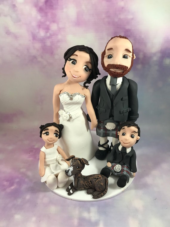 Personalised Wedding Cake Topper - Bride and Groom / Same sex wedding