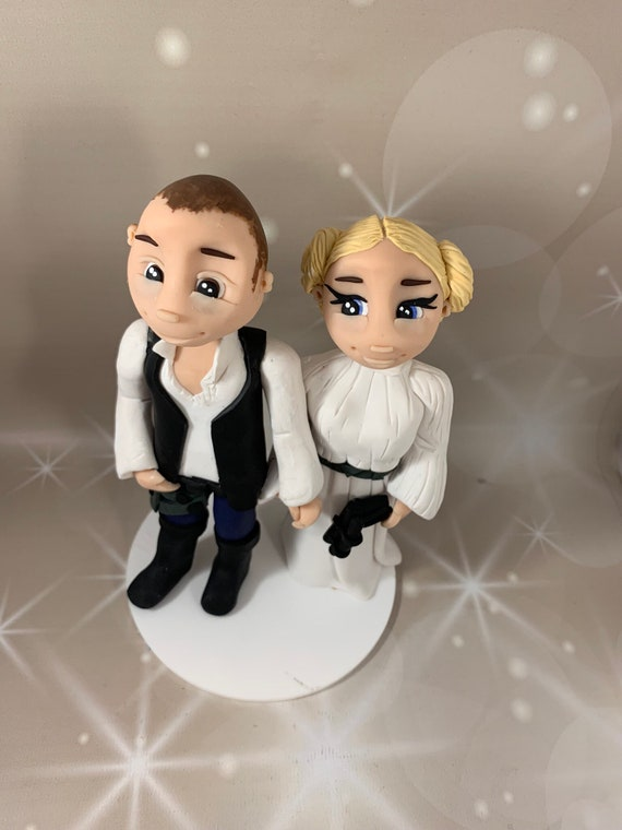 Star Wars Cake Topper - Han Solo / Princes Leia Bride and Groom/Same sex Wedding