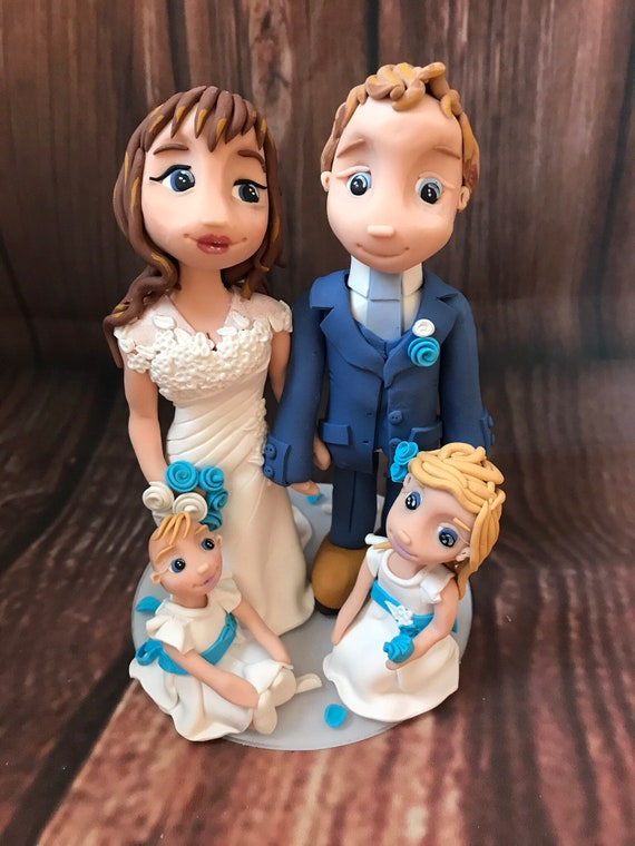 wedding Cake Topper - Personalised Bride & Groom