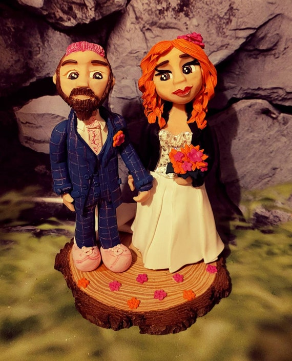 Personalised Wedding Cake Topper - bride and groom/ same sex wedding unconventional or alternative wedding