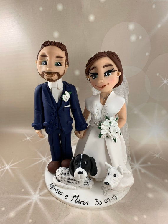 Personalised Wedding Gift - Bride and Groom / same Sex Couple statues/figurines Ornament/ Keepsake