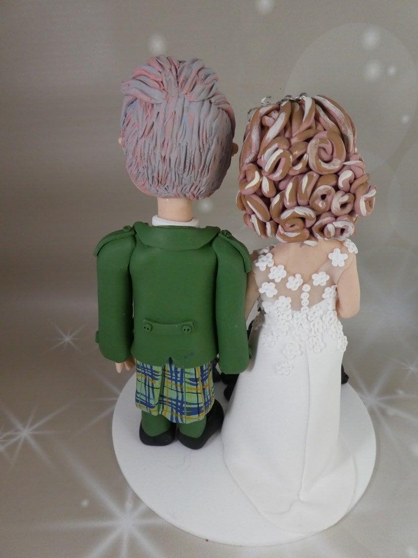 Wedding Cake Topper - Scottish Kilt