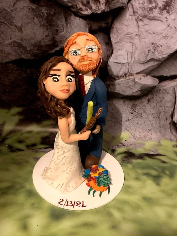 Personalised Wedding Cake Topper Harry Potter/ Star wars- bride and groom/same sex couple