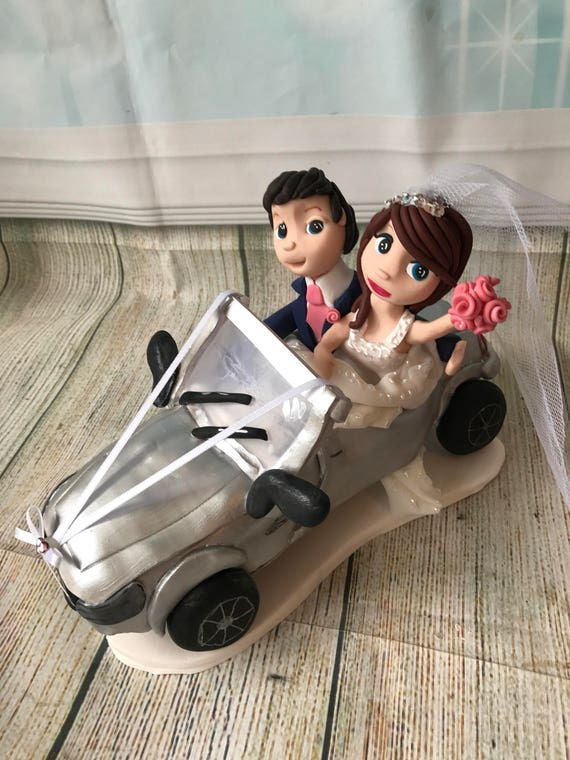 Wedding Cake Topper - wedding car